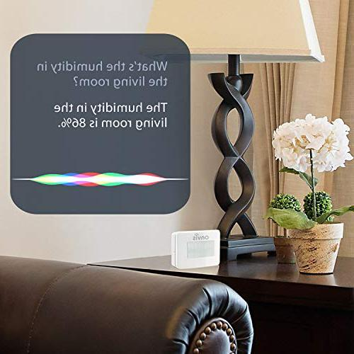ONVIS Wireless Detector With Apple HomeKit Hygrometer Thermometer Temperature Siri Trigger for