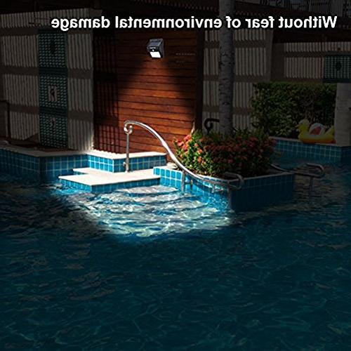 URPOWER Solar Waterproof Motion Light Yard, with Motion Activated Auto On/Off