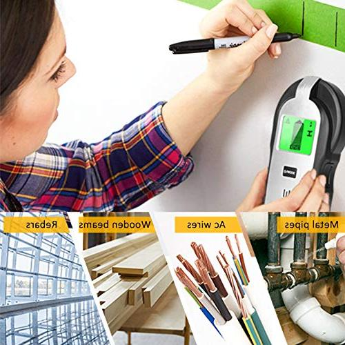 Stud Finder Scanner - in 1 Function Electronic Stud Detector with LCD Display AC Detection