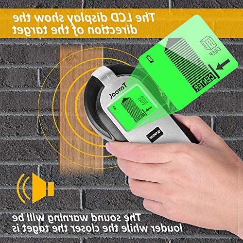 Stud Finder Wall Scanner - 4 in Electronic Stud Sensor Detector Wood Beam Center Finding and LCD Studs