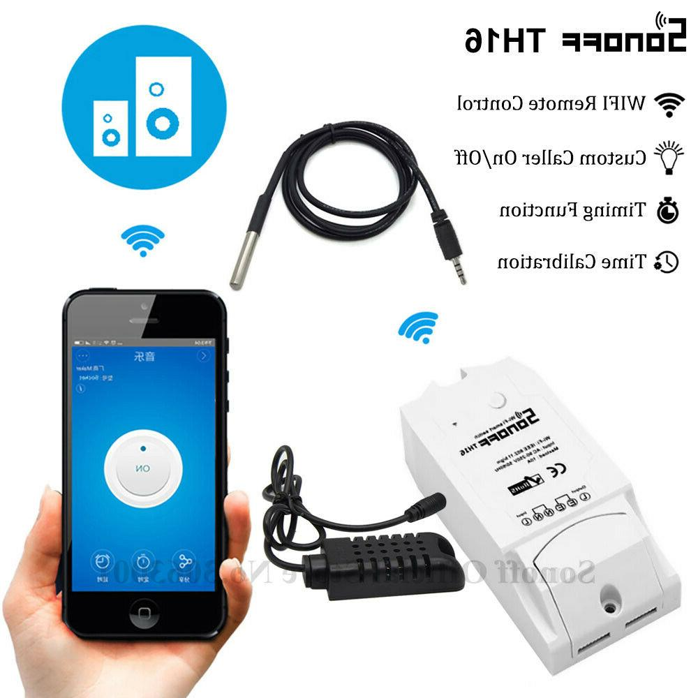 th16 smart wifi switch monitoring temperature humidity