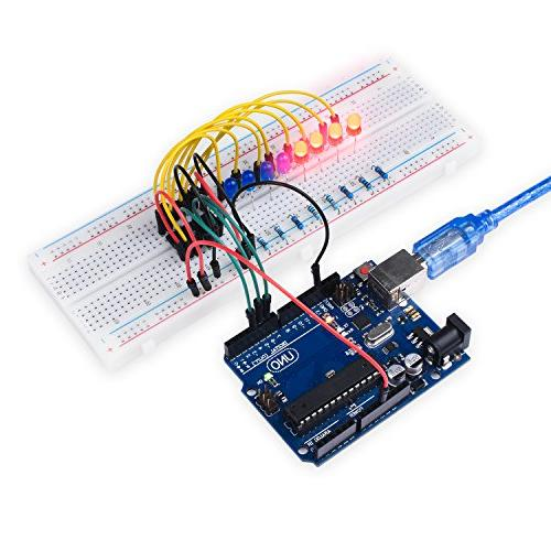 Miuzei Kit for Arduino with LCD1602 Module, Servo, 9V Supply, sensors, LEDs, Tutorial MA13