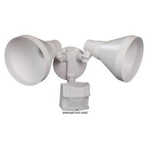 Defiant 180 Degree Outdoor White Motion-Sensing Security-Lig