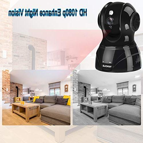 Vancle Wireless IP Camera 1080p Motion Detection Night Vision Way Audio Pan/Tilt/Zoom Supports 2.4G Surveillance Baby/Elder/Pet with