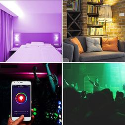 Smart LED Light Bulb,Multicolored Dimmable,Bluetooth App Gro