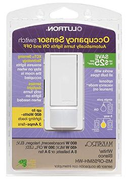 Lutron Electronics MS-OPS5MH-WH White Occupancy Sensor Switc