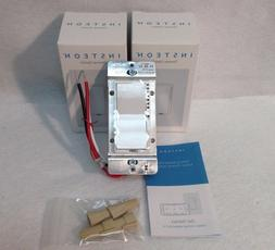 NEW 2 Insteon 2477D SwitchLinc Dimmer Switches, 600W - White