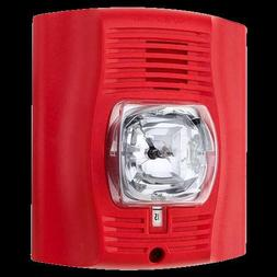 System Sensor P2R-P Unmarked, Red, Two-Wire Horn Strobe