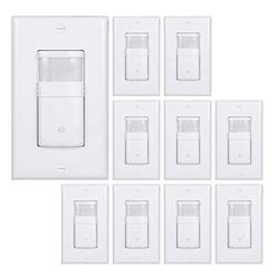 White Motion Sensor Light Switch – NEUTRAL Wire Required