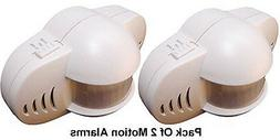 Pack Of 2 Area Motion Sensor Alarms With 90dB Alarm Siren
