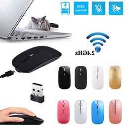 Rechargeable 2.4GHz Wireless Optical Sensor Mouse Mice+USB R