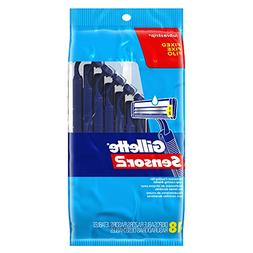 Gillette Sensor2 Men's Disposable Razors, 18 count
