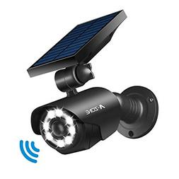 Solar Lights Outdoor Motion Sensor - 800Lumens 8 LED Spotlig