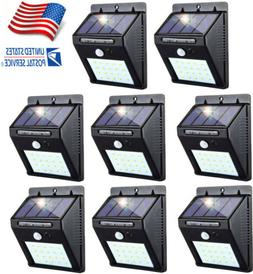 20 LED Solar Power Wall Lights Motion Sensor Garden Yard Out