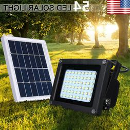Solar Powered 54 LED Dusk-to-Dawn Light Waterproof Outdoor S