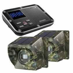 Solar Wireless Driveway Alarms 1/3 Mile Range Outdoor Motion