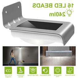 Solarek 16 LED Solar Power Motion Sensor Garden Security Lam