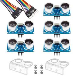 Smraza 5pcs Ultrasonic Module HC-SR04 Distance Sensor with 2