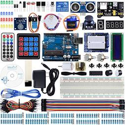Miuzei UNO R3 Starter Kit for Arduino Projects with UNO R3 B
