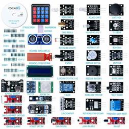 ELEGOO Upgraded 37 in 1 Sensor Modules Kit with Tutorial Com