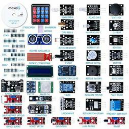 ELEGOO Upgraded 37 in 1 Sensor Modules Kit with Tutorial for