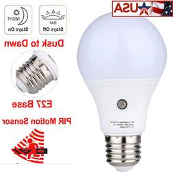 US 7W/9W E27 Auto Sensor LED Smart Switch Bulb Light Lamp Du