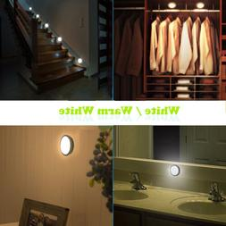 USB 6LED Rechargeable Motion Sensor LED Closet Stairs Bedroo