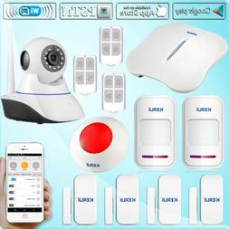KERUI W193 3G Wireless WIFI PSTN RFID Card GSM Touch Color D