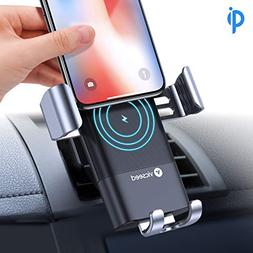 VICSEED Wireless Charger Car Mount, Qi Certified Fast Wirele