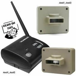 Wireless Driveway Alarm Outdoor Motion Alert 2 Sensors Secur